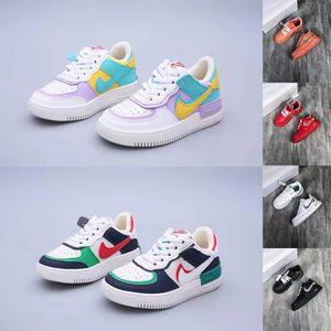 Bebês Crianças Meninas Running Shoes 1 toque tropical Esporte Dunnk Um skate sapatilhas crianças desenhador meninos 26-35