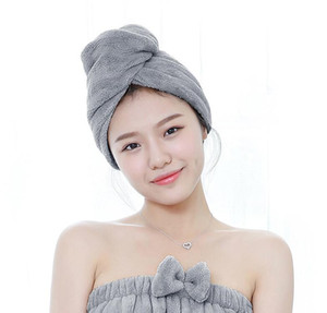 Microfiber Bath Towel Hair Dry Quick Drying Hats Lady BathTowel Soft Shower Cap for Lady Girls Turban Head Wrap Bathing Tools 4 Colors
