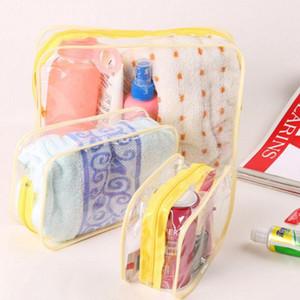 Designer-Hot New PVC Voyage Sacs cosmétiques Hommes Sacs transparent de maquillage Zipper Organisateur toilette coffret de rangement bain de lavage poche fourre-tout