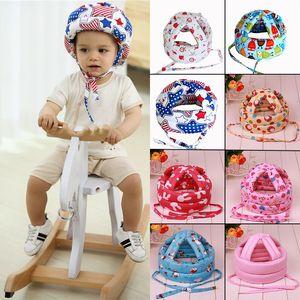 Baby Boy Girl Child Protective cabritos del sombrero gota Tapa de seguridad Aprende a Cap trabajo Casco de protección anti niños colisión Sombrero