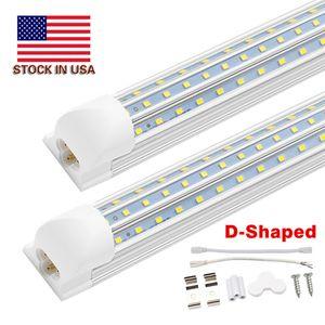 Livraison gratuite D Shaped 4FT. 8FT. 120W LED Tube lumières T8 ampoule intégrée avec des parties en forme de V 270 85-277V angle lumières de la boutique Cooler