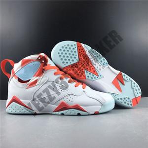 2019 7 TOPAZ MIST 여자 농구 신발기를 여신 캔디 화이트 핑크 리얼 가죽 스포츠 운동화 트레이너 크기 36-40