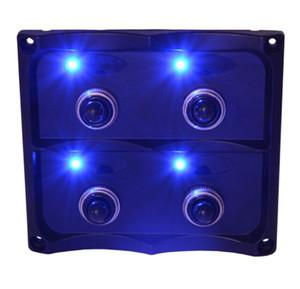 Wasserdichte Universal-DC12 Volt 4 Toggle Switch Panel Marine-Wippenschalter für Autoboot Suv Yacht 4 Position LED-Licht