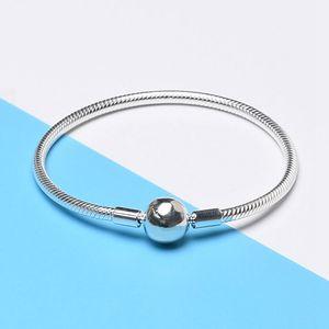 Boule Serpent Bracelet Pandora Argent 925 Classique mode Joker Lady Bracelet avec boîte cadeau de vacances
