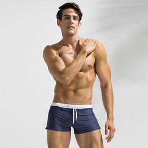 Erkek Yaz Mayo Sandıklar Mayo Fit Katı Swim Suit Boxer Şort Swim Sandıklar Yüzme Surf Spa