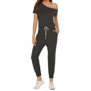 Off-the-shoulder Jumpsuit Fashionable Women's Cotton Rayon a Casual Rompers
