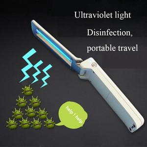 Leve clamshell ultravioleta Desinfecção Lamp Esterilização Lamp Handheld UVC Folding germicida Lanterna com Carregador USB