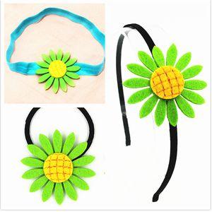 3pcs bag Girl Elastic Hair Band Sunflower Hairbands head hoop newborn toddler Sunflower Headbands Hair Accessories for children