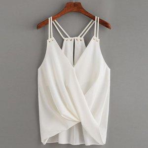 Tops camiseta casual de alta calidad de la cosecha de Camis Camisa sin mangas del tanque del chaleco Cami T camiseta de verano tapas para las mujeres MA7