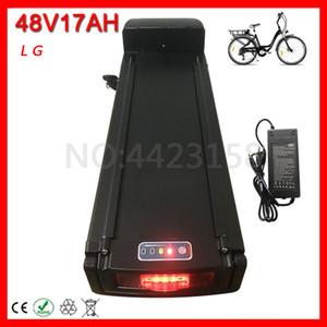 EU US Free Duty 48V 17AH Rear Rack Batería de bicicleta eléctrica 48V 18AH Batería de iones de litio para 48V 500W 750W Ebike Motor.
