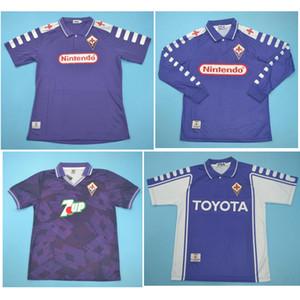 Top 98 camisas de futebol 99 00 Fiorentina Retro 1998 1999 2000 camisa Batistuta futebol 92 93 RUI COSTA jersey Florence clássico pé maillot de