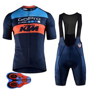 2019 KTM jerseys de ciclismo terno dos homens estilo de manga curta roupas de ciclismo secagem rápida ao ar livre sportswear bicicleta de corrida ropa ciclismo 010707Y