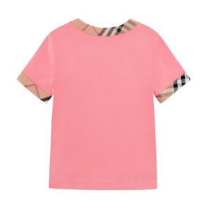 Children's Clothes 2020 Summer Girl Collar Short Sleeve Whole Cotton Material Leisure Time T T-shirt In Children Clothing 0201