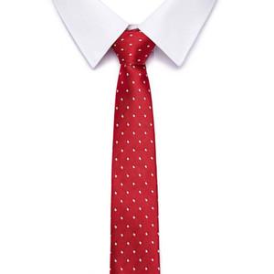 men's business silk Tie 7.5cm bridegroom wedding party red polka dots Corbata normal width Necktie Cravat Clothing Accessories Warm Ties
