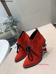Women High Qaulitys High Heeled Boots With Head And Thick Chain In Autumn And Winter wzqh1