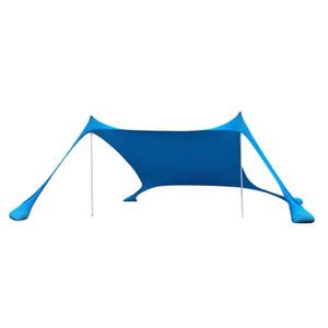 Parks Camping için Kum torbası Çapalar Plaj Güneşlik UV Güneş Shelter ile Taşınabilir Plaj Çadır