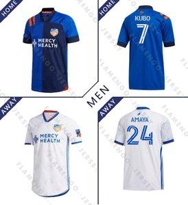 MLS FC سينسناتي SOCCER الفانيلة المنزل بعيدا camisetas دي فوتبول 2020 قمصان كرة القدم 2021 WASTON GARZA ADI ميدونيانين A.CRUZ