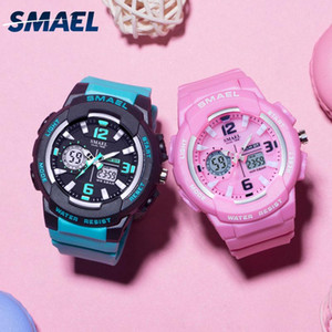 luxury SMAEL Kids Digital Watches Boys Clock Men Sport Watch Waterproof Kids LED display relogio1643 Children Watches for girls Digital