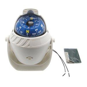 ABS blanc de haute précision LED électronique pour véhicules de Compass Navigation Sea Marine militaire Voiture Bateau Bateau Compass HOT VENTE