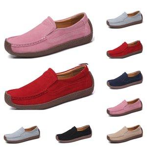 La nueva manera zapatos casuales británicos 35-42 Eur nuevos zapatos de cuero de las mujeres colores caramelo chanclos el envío libre de Alpargatas #Thirty cinco