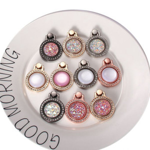 Phone holder 360 Degree Rotation Diamond Bling Phone stand holder metal For iPhone 7 8 X Samsung Finger Ring Holder Stand 11 colors