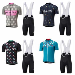 Set bicchierini in jersey da ciclismo manica corta Morvelo (vendita calda) Set maniche corte in jersey da ciclismo in velluto Ropa Ciclismo c2603