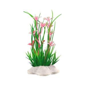 시뮬레이션 물 잔디 물고기 탱크 플라스틱 장식 수족관 녹색 물 잔디 장식 식물 가짜 식물 핫 새로운 F19를 식물