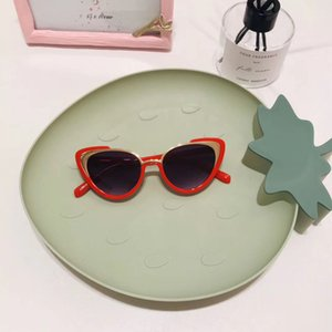 2020 NEW kids sunglasses Ins Style Fashion Cat eye Girls sun glasses 3-8yrs Baby eyewear UV400 Vintage Metal Cute glasses N491