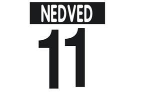 pegatinas de estampado 00-03 fútbol casero JUV impresión en caliente nameset # 11 NEDVED Buffon jugador de fútbol numeración impresa letras