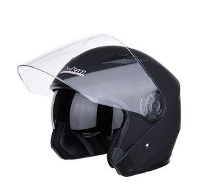 CarBest new Full Face Flip up Modular Motorcycle Helmet DOT Approved Dual Visor Motocross Black L