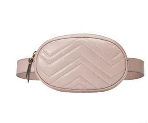 New Style Design Waist Bag Black Cowhide Heart Waist Bags Wallet Women Red Waist Crossbody Bag 476434