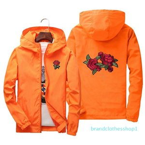 Fashion-Rose Embroidery Jackets Men Women Flower Embroidered Polyester Hip Hop Casual Designer Jackets Plus Size S-7XL