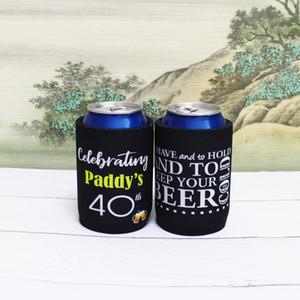 Titular 100pcs atarracado personalizado com o cliente design de impressão Presentes de casamento Neoprene Beer refrigerador pode refrigerador Picnic Bag para o vinho Foods