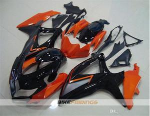 Haute qualité New ABS Carénage de moto pour SUZUKI Ces kits sont pour GSXR600 GSXR750 K8 2008 2009 2010 Carrosserie ensemble personnalisé Orange Noir