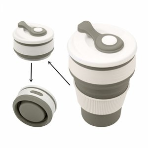 Silicone collapsible reusable coffee cup portable with lid light camping expandable water cup for outdoor travel coffee cup leak-proof