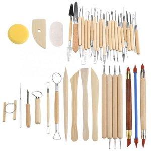 42pcs Keramik-Keramik Crafts Werkzeuge Set Lehm Sculpting Schnitzen Modellierung Kombination Tool Kit herramientas Domestic Lieferung