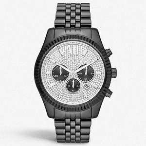 Горячий продавать Высокое качество мужчины часы алмазов часы из нержавеющей стали часы MK8494 MK8515 MK8605 MK8280 + коробка + оптом и в розницу