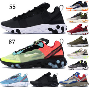 Cheap Men Women React element Running Shoes EUR 36-45 Royal Tint Black White Light Brown outdoor Sneakers fashion Dusty Peach Trainers