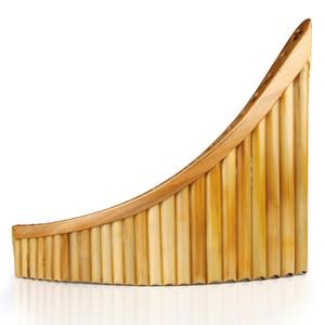 Professionale Reed ha fatto strumento musicale 25 Pipes Pan Flute G chiave di alta qualità Pan Pipes a fiato in legno Strumento di bambù flauto di pan