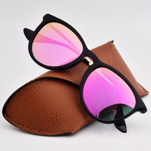 Erika estilo marca de diseño polarizante gafas de sol Hombres Mujeres flash Espejo lente polarizada gafas de sol de moda Gafas de sol con la caja y la caja