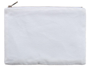 Sublimation Blank Makeup Bag 6.3*9.06inch Two Layers White Comestic Bags Canvas Heatprinting Transfer Makeup Bag A02