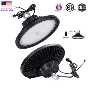1-10V Dimmable UFO LED HighBay Lights 5000K 240W 200W 150W LED Shop Lights Indoor Outdoor Light Factory Warehouse Lighting IP65 150LM W