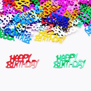 Banner 15g compleanno numero 16 18 20 13 21 30 40 50 60 70 80 Metallic Sprinkle Confetti spargimento della Tabella per il compleanno