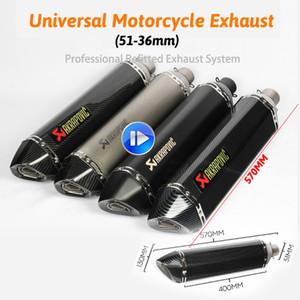 570mm uzun kaçış de moto Motosiklet susturucu boru motogp cbr cqr yzf Akrapovic aksesuarları ktm 36-51mm R1 250cc 350cc 600cc