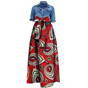 Африканские печати Платья для женщин 2019 Новости Wax Ткань Юбки Traditioanal Dashiki Базен Плюс Размер партии моды африканских одежды