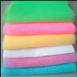 Нейлоновая сетка ванна душ мытье тела чистый отшелушивающий слоеный скраб полотенце ткань скрубберы банные инструменты RRA2917