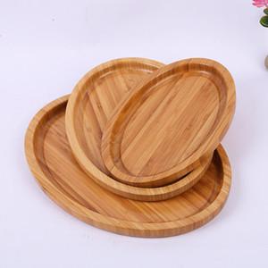 Pastel de caramelo Platos de almacenamiento de madera Respetuoso del medio ambiente Platos de almacenamiento de bocadillos Artesanía hecha a mano Bandejas de pan Inicio Herramienta de cocina Bandeja de placas de madera sólida gruesa