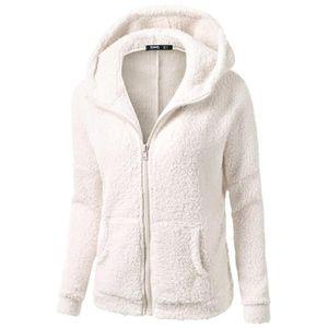 Women Coat Fleece Fur Thicken Warm Hoodie Jacket Autumn Winter Solid Soft Zipper Overcoat Female Fashion Concise Casual Outwear