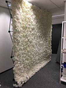 230 سنتيمتر x 230 سنتيمتر الألومنيوم زهرة الجدار للطي حامل الإطار ل الخلفيات الزفاف مستقيم راية المعرض عرض موقف المعرض التجاري الإعلان