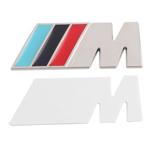 3M M Series Big Mpower M-tech su Car Trunk Badge Emblem 3D Pure Metal griglia frontale con cofano Logo /// M M3 M5 per BMW Car Styling Sticker